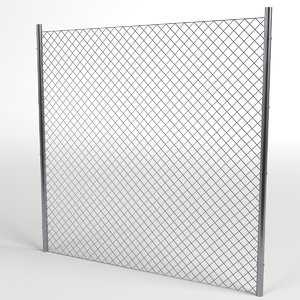 wire fence module 3d 3ds