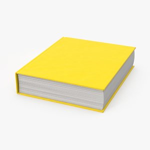3d model book closed