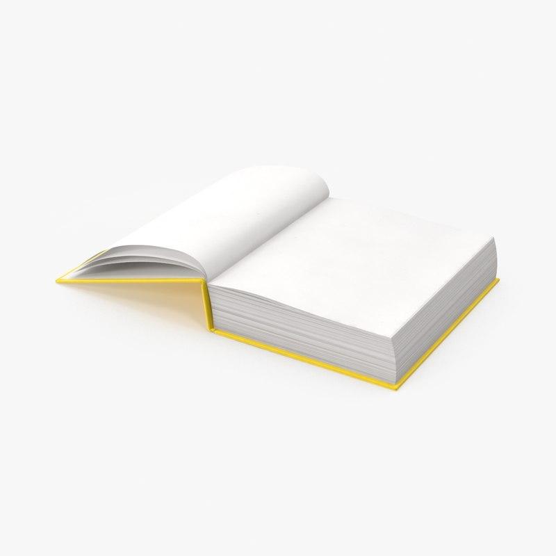 3d model book open end
