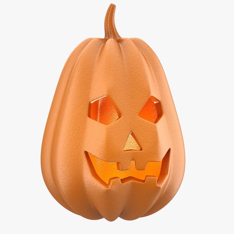 3d pumpkin head highpoly model