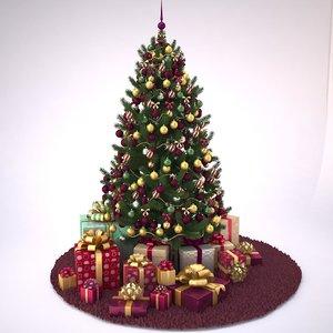 christmas tree v1 3d max