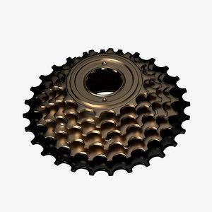 bicycle freewheel 6s obj free