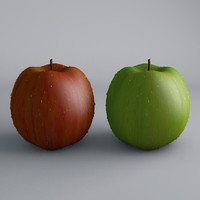 green red apple condensation 3d model
