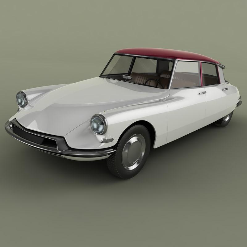 3d model 1956 citroen ds 19