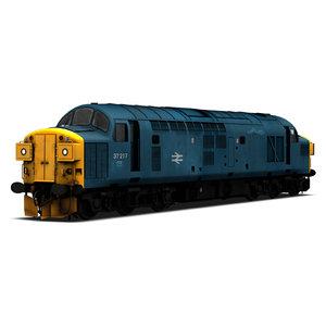 3d class 37 locomotive model