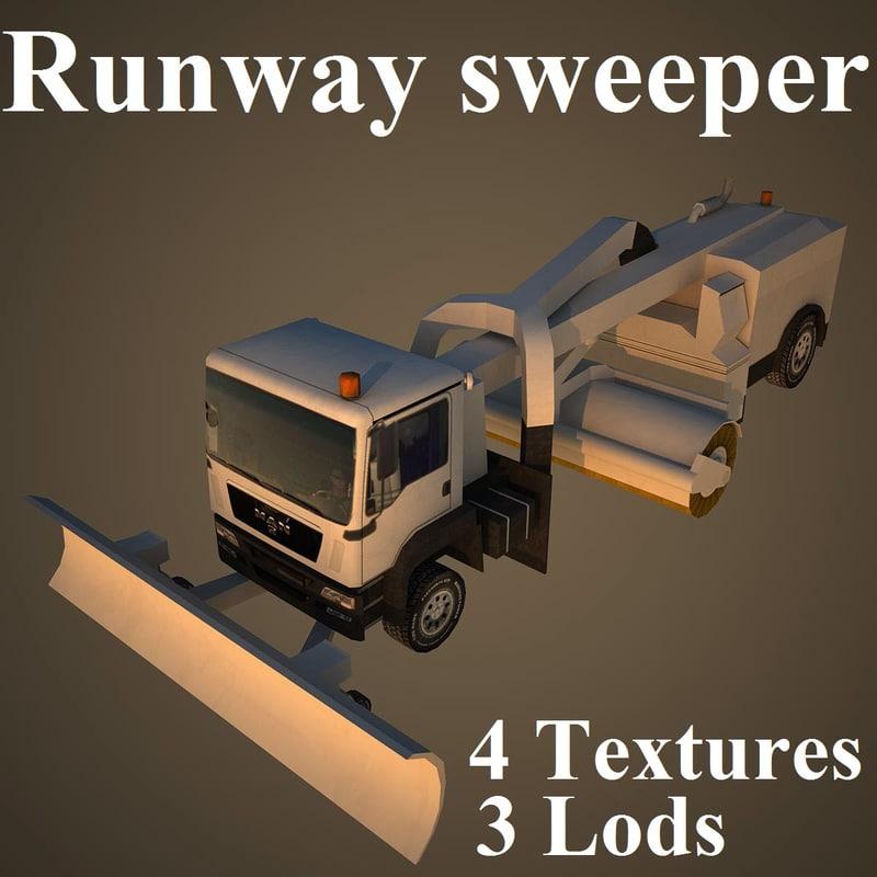 3d runway sweeper cleaner