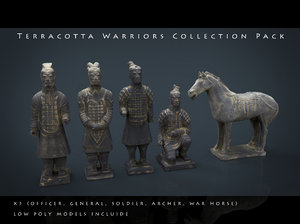 3d model terracotta warriors pack war