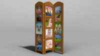 room divider photo 3d obj