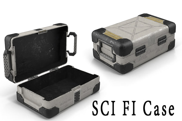 sci fi case 3d max