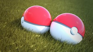 3d 3ds pokeball blender cycles