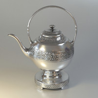 3d metalic teapot ornaments