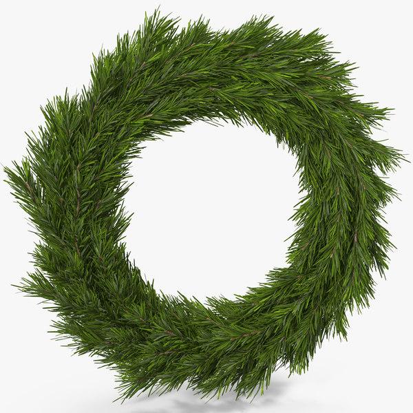christmas wreath 2 3d max