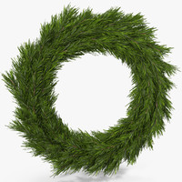 christmas wreath 2 3d max