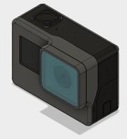 3d model gopro hero 5 camera