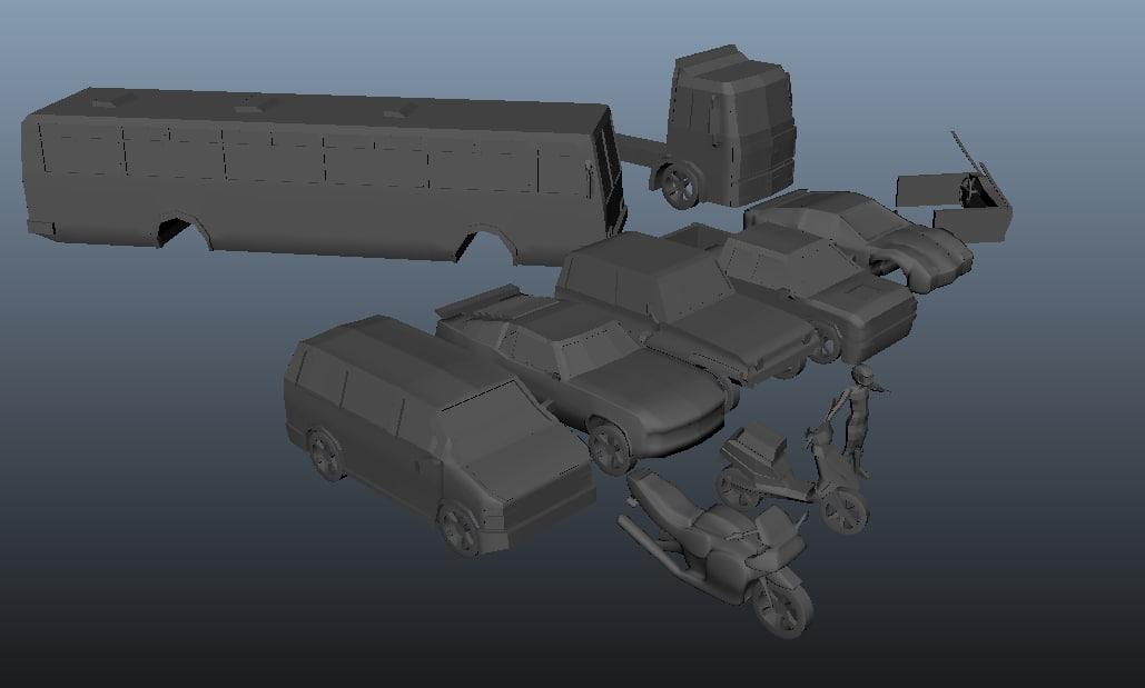kit car 3d obj