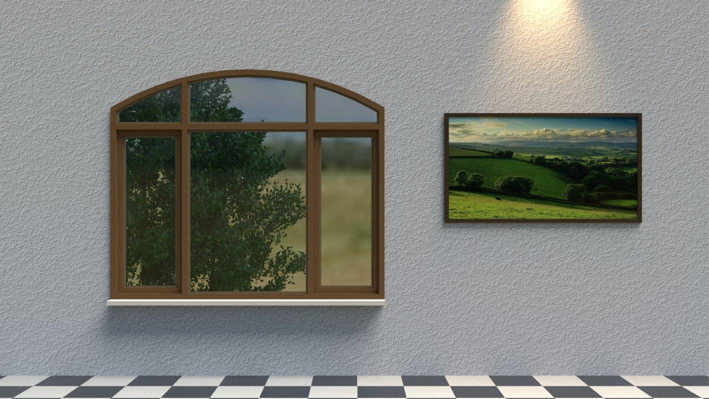 Arch window 3d model for Window 3d model