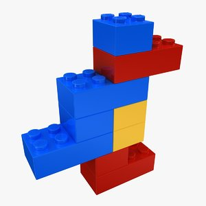 realistic lego bricks shape 3d 3ds