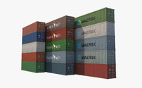 40ft containers 3d model