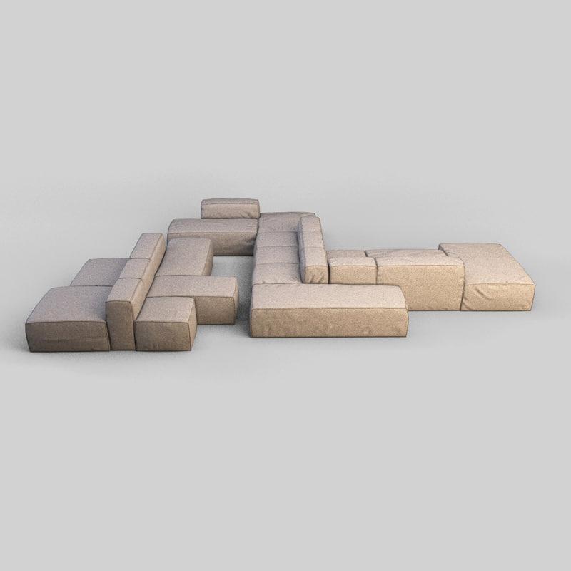 3d bonaldo sofa model