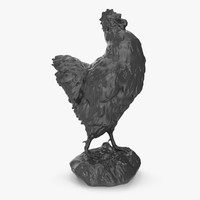 3d stylized chicken