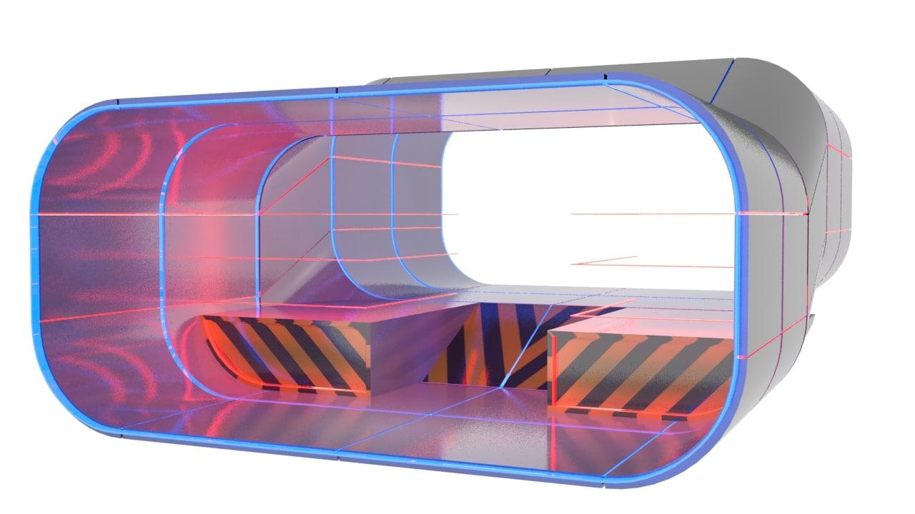 scifi modular level sci fi 3d model