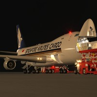 scene loading operation boeing 747-400 max