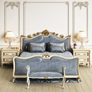 angelo cappellini wagner bedroom 3d max
