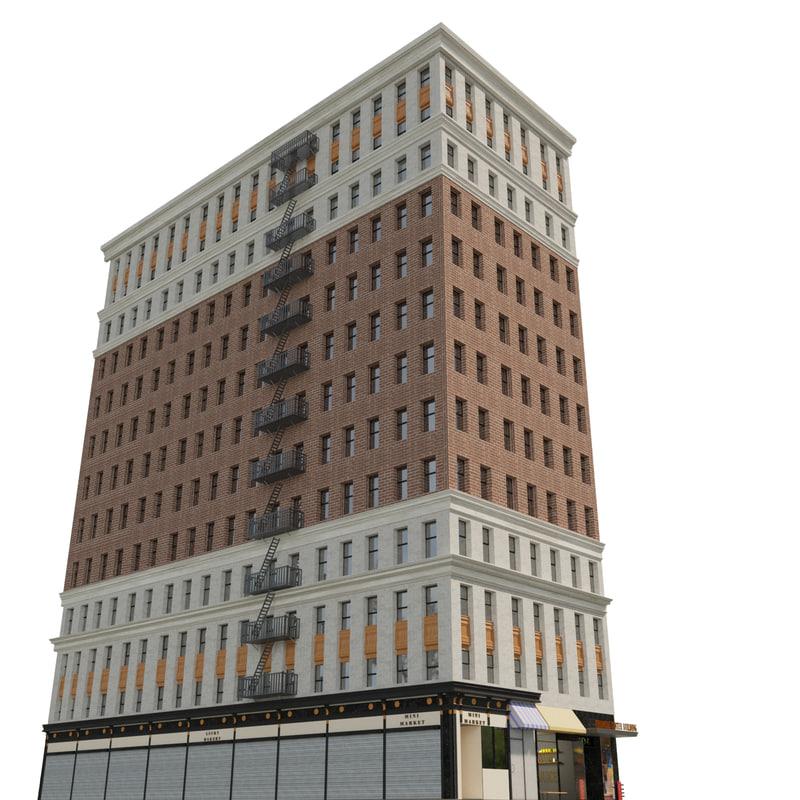 city building 3d 3ds