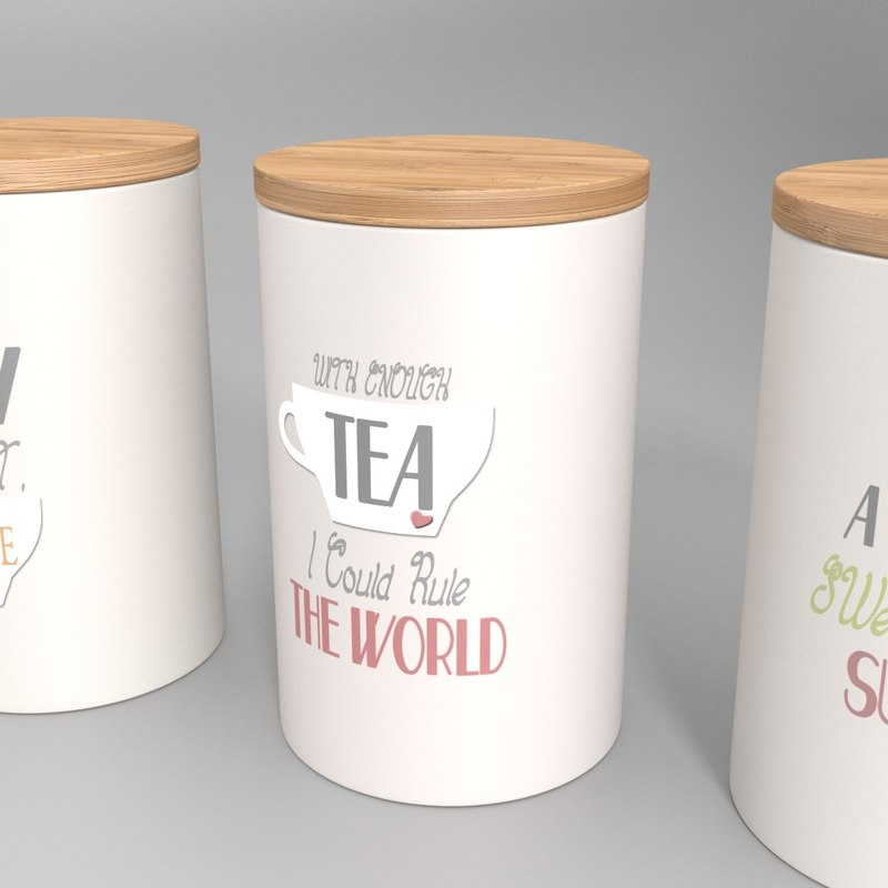 storage jars - set 3d model