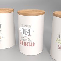 storage jars - set 3d model