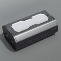 sci-fi crate 3d model