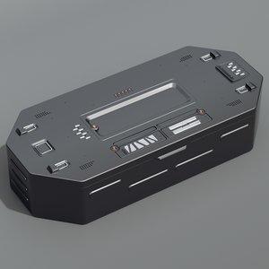 3d sci-fi crate model