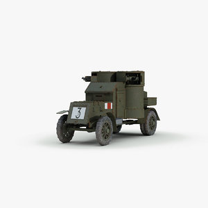 3d ww1 austin mk4 armored car
