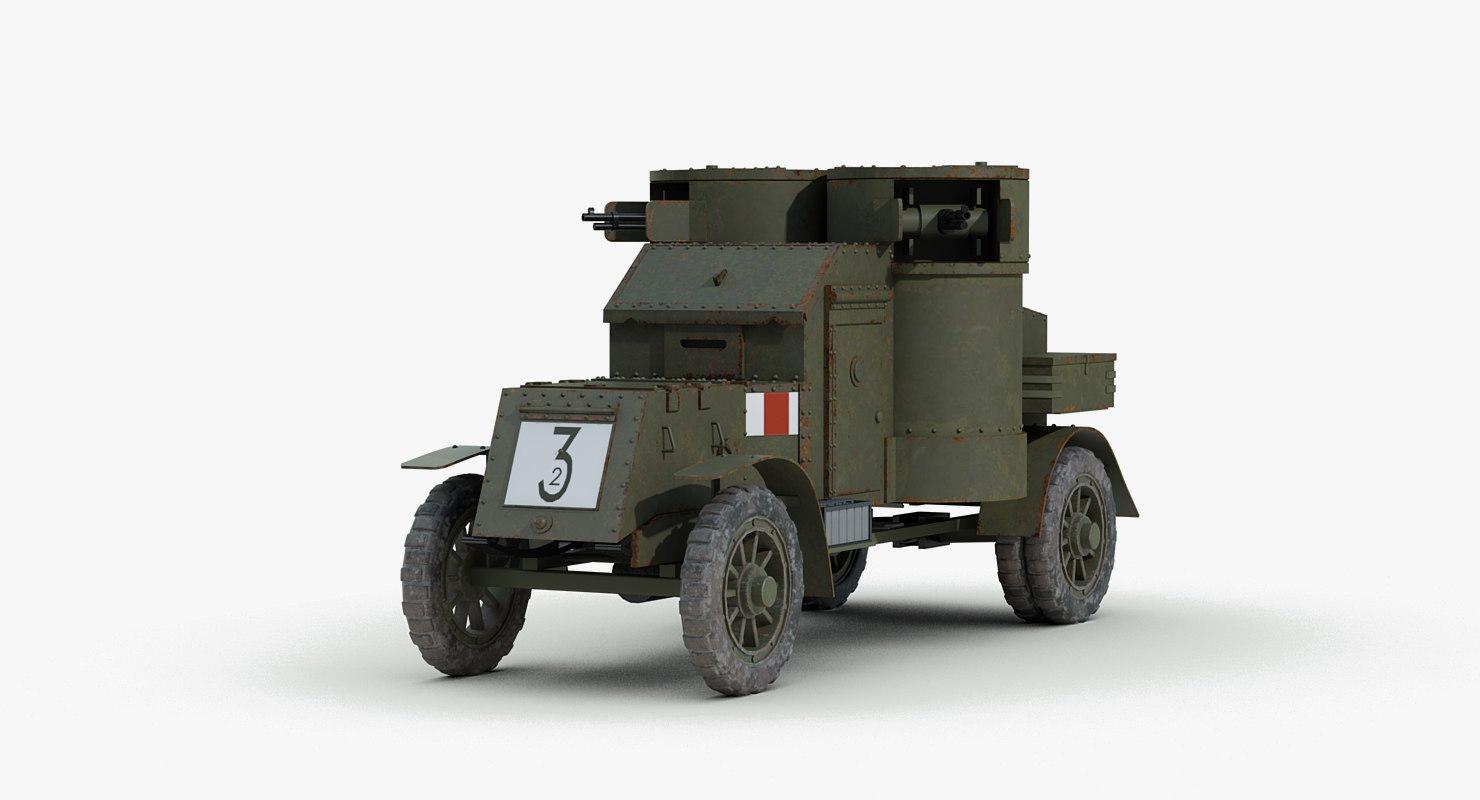 3d ww1 austin mk4 armored car