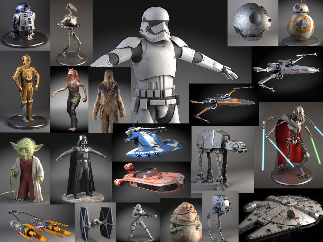 3d model of ultimate star wars