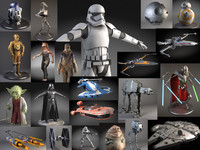 3d model of ultimate star wars