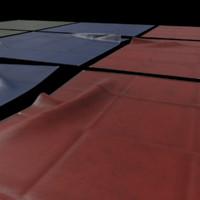 tarpaulin 4x4 meter 3d fbx