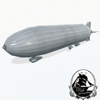 zeppelin rigid airship 3d model