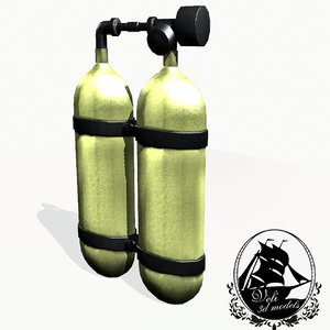 oxygen cylinders 3d max