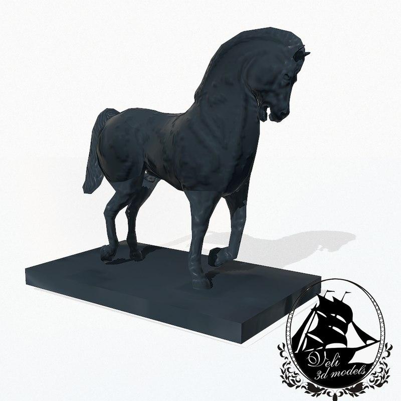3d horse statue model