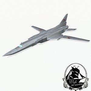 tupolev tu-22m bomber 3d 3ds