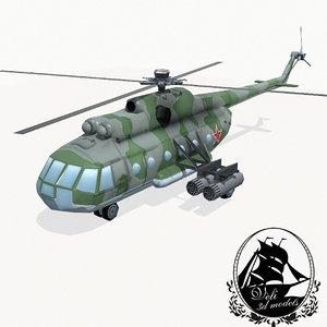 mil mi-8 helicopter 3d fbx