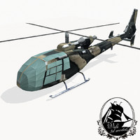 3d model aerospatiale gazelle french