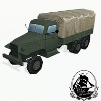 military truck 3d 3ds