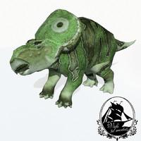 protoceratops herbivorous ceratopsian 3d model