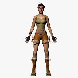 3d commando girl woman