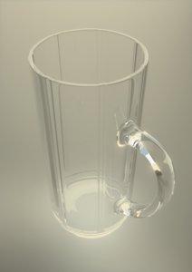 beer mugs glass glassware obj