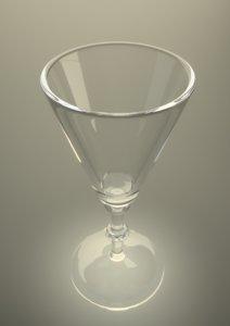 3d sherry glass wine glassware model