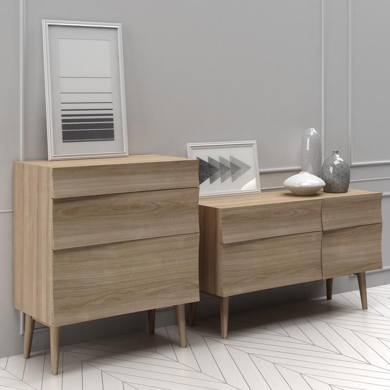3d muuto reflect sideboard small model