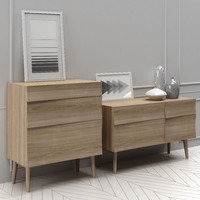 Muuto Reflect Sideboard small + Drawer + decors